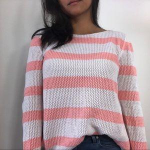 Old Navy Open Knit Sweater Stripe Size XL
